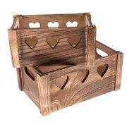 9a  Wooden box - 2pcs set 1/8