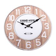 ci Wooden clock, 1/12