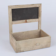 ;1y Wooden box for flowers with blackboard 0/12