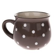 jt Small ceramic mug with polka dots - gray 1/48