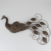 Metal wall decoration - peacock 0/8