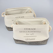 rx Storage textile baskets (2pcs) 0/15