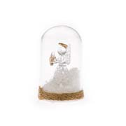 _4s Glass dome with LED light - angel with star