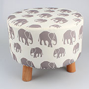 _1h Wooden stool (removable fabric) 0/2