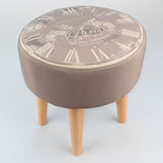 _1i Wooden stool (removable fabric) 0/2